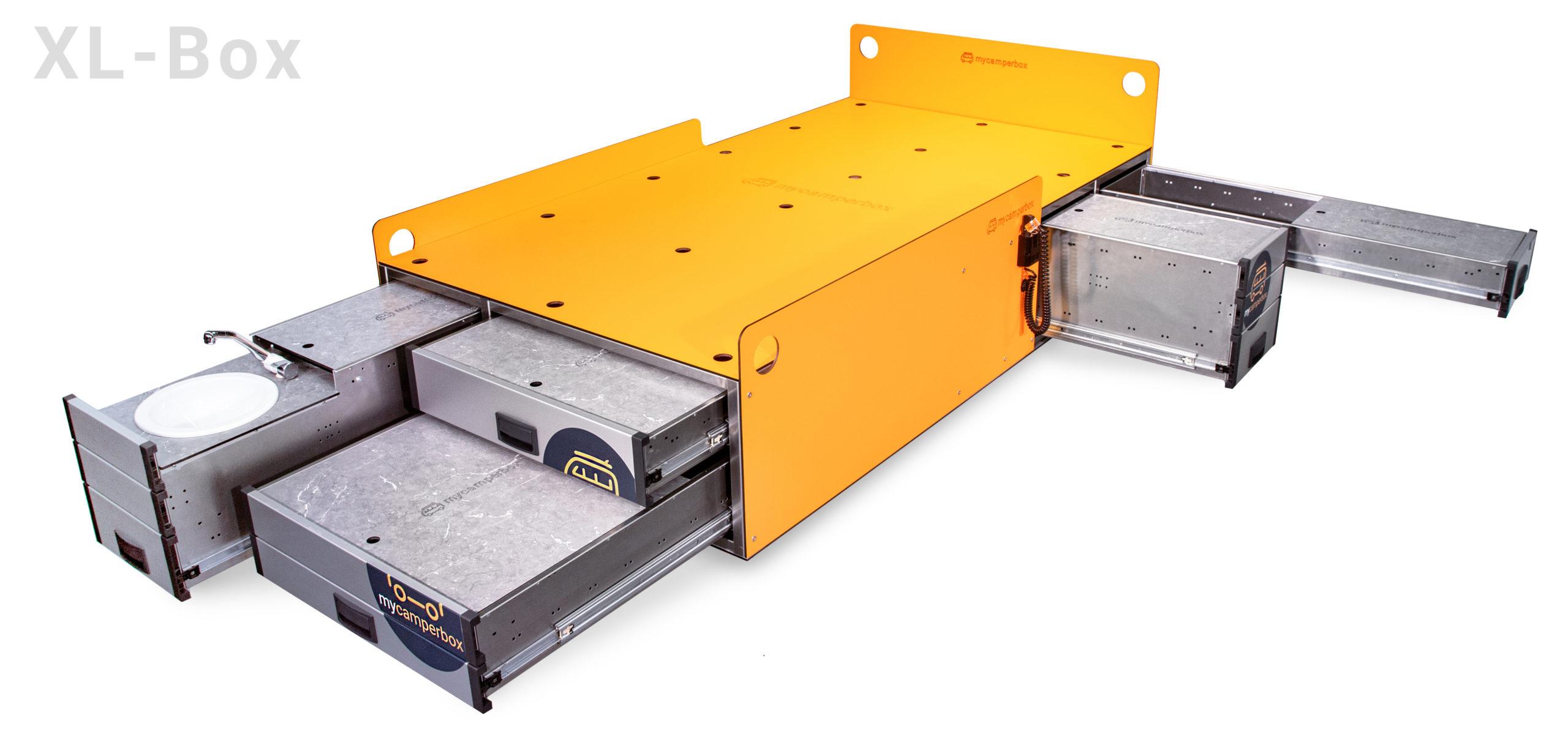 mycamperbox XL mit Wasserschublade