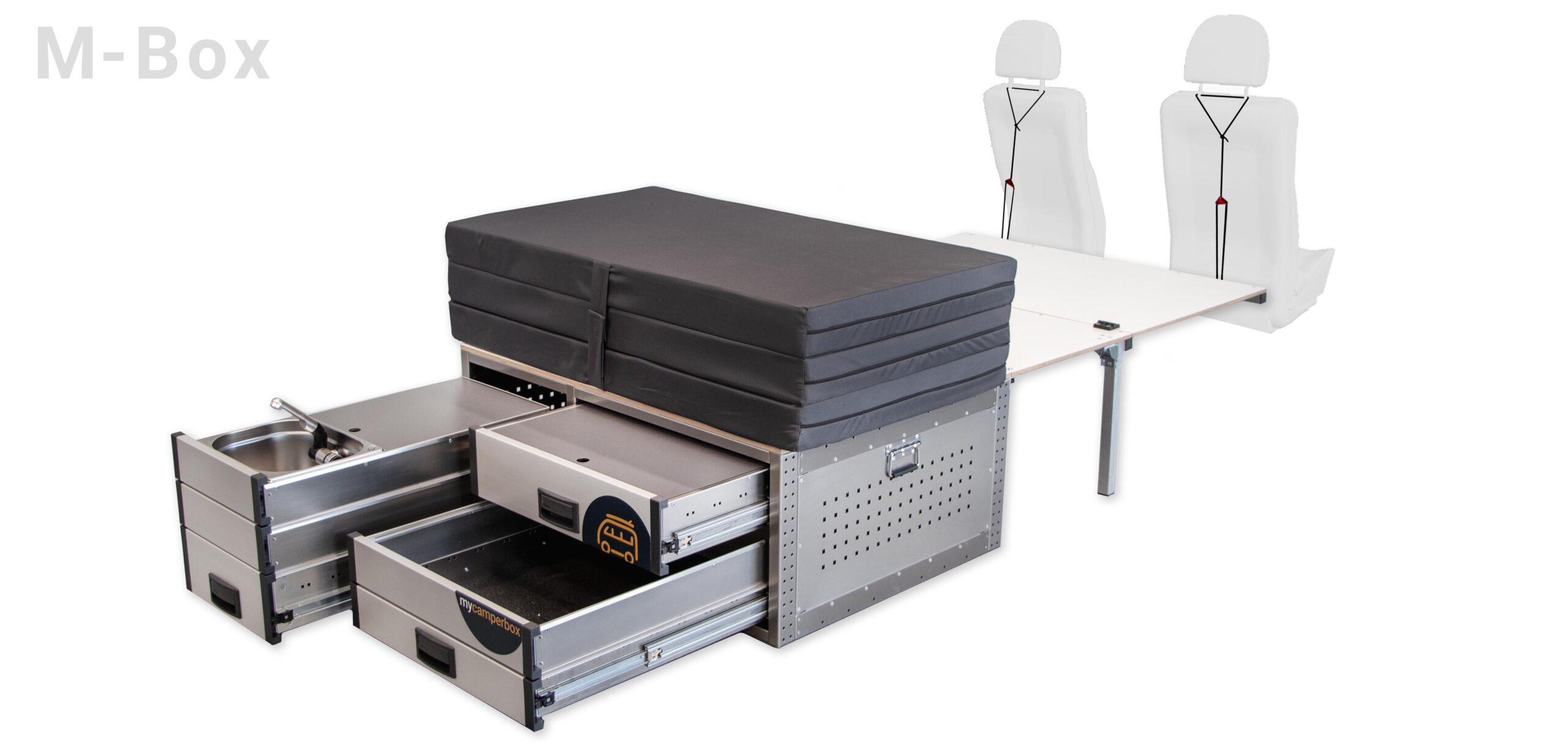 mycamperbox M mit Matratze und Wasserschublade